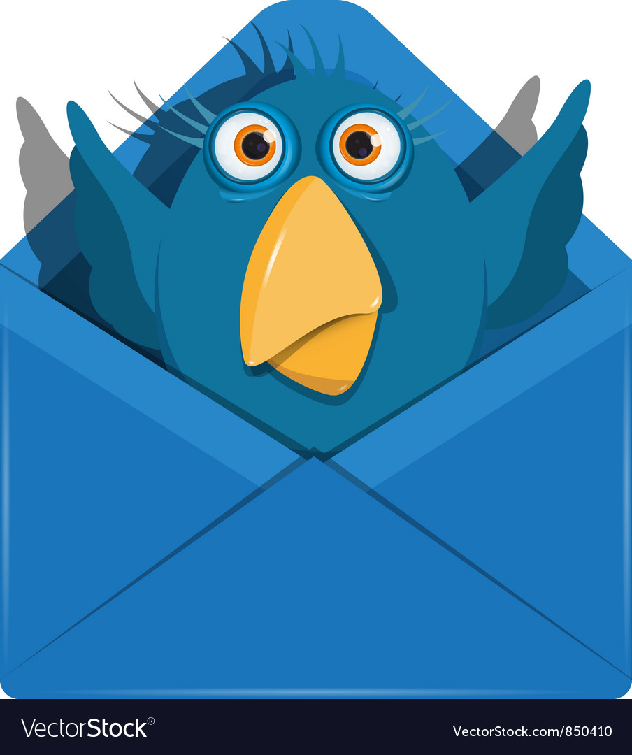 Bird in the envelope vector | Price: 1 Credit (USD $1)