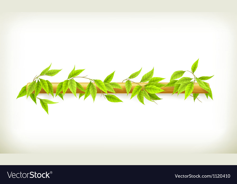 Foliage banner vector | Price: 1 Credit (USD $1)