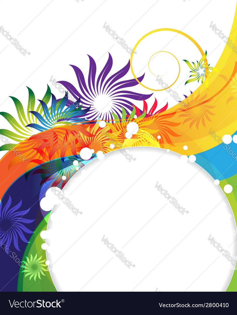 Funny rainbow flower background vector | Price: 1 Credit (USD $1)