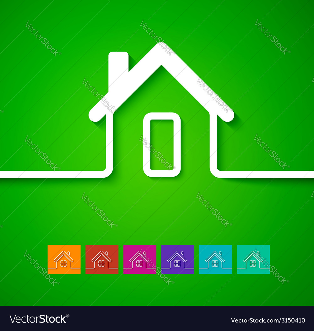 Home line background vector