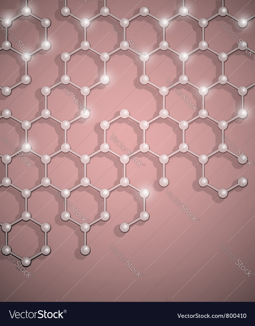 Molecular structure background vector | Price: 1 Credit (USD $1)