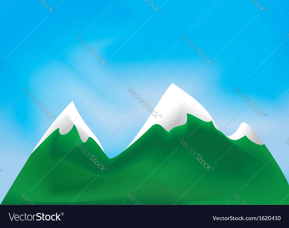 Mountains and sky vector | Price: 1 Credit (USD $1)