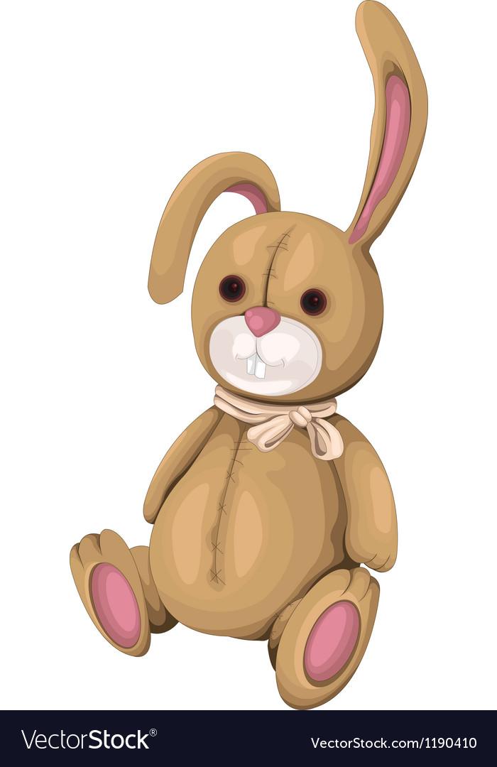 Plush bunny vector | Price: 1 Credit (USD $1)