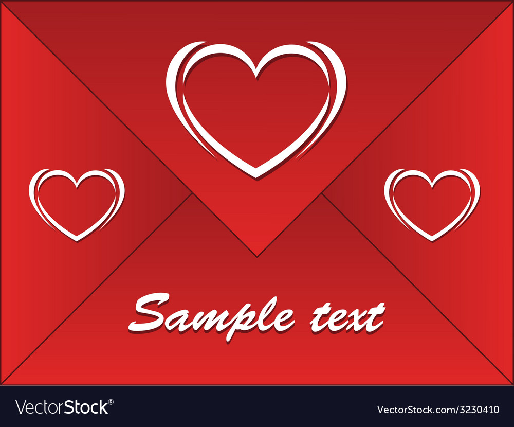 Red envelope with hearts vector | Price: 1 Credit (USD $1)