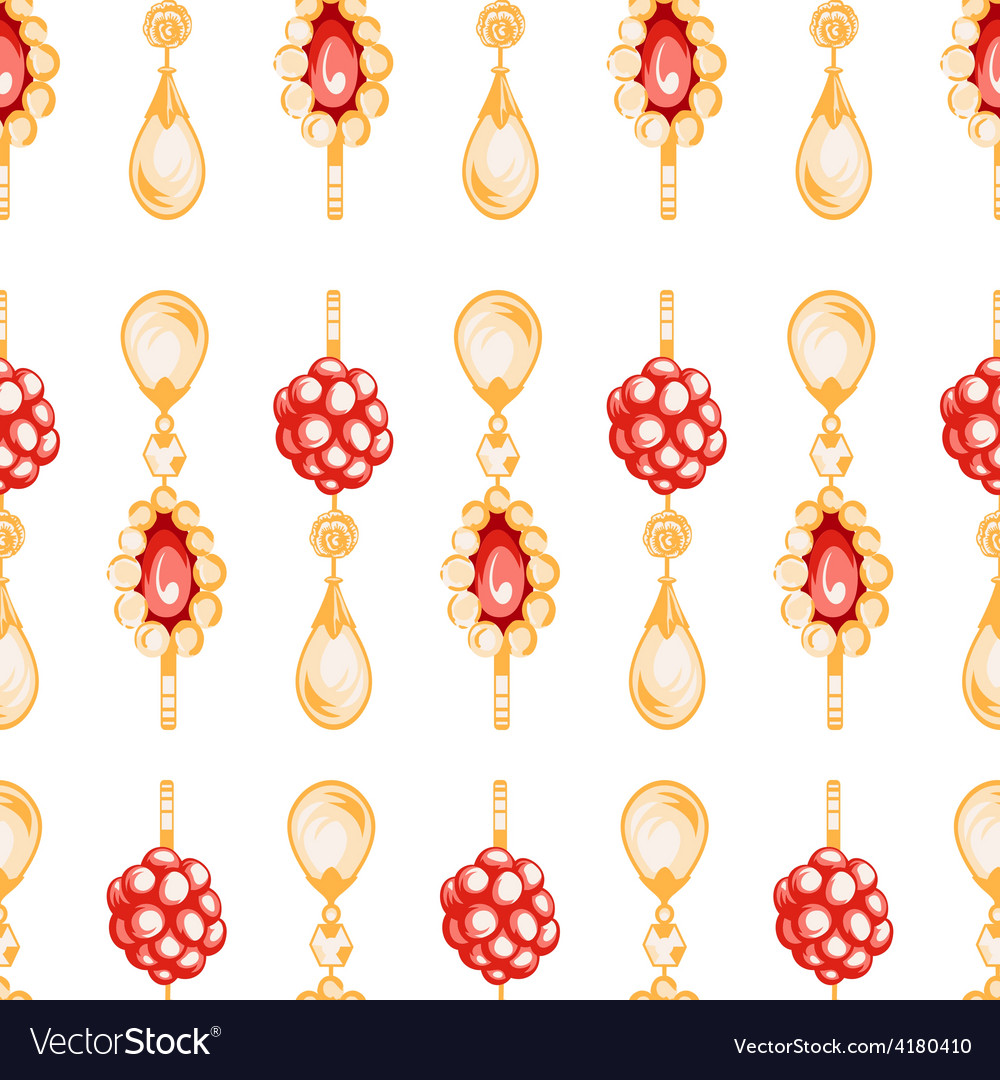 Seamless pattern of jewels vector
