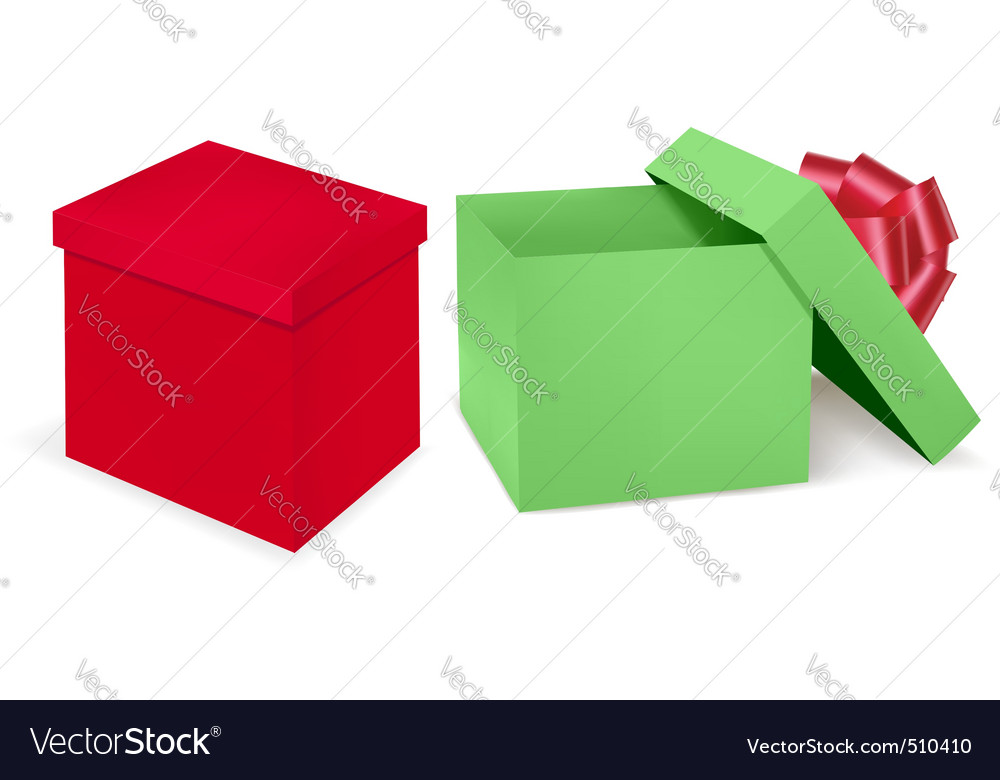 Two boxs vector | Price: 1 Credit (USD $1)