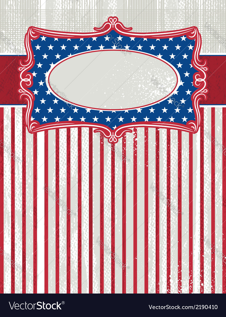 Usa background with one decorative label vector | Price: 1 Credit (USD $1)