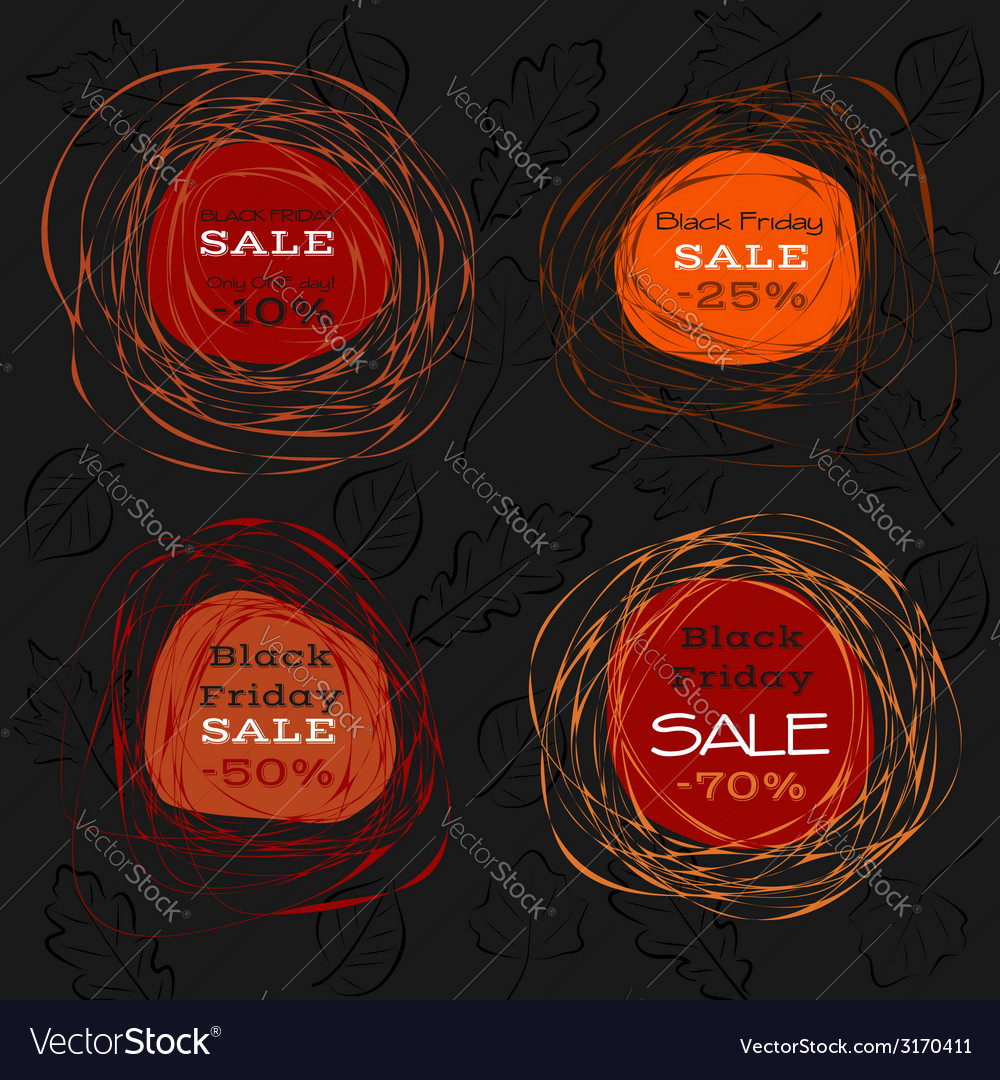 Black friday sale abstract frames vector | Price: 1 Credit (USD $1)