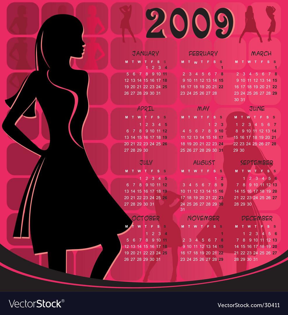 Calendar for 2009 vector | Price: 1 Credit (USD $1)
