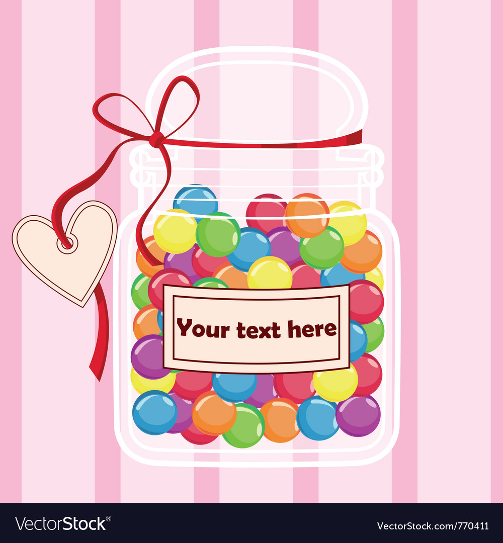 Candy jar vector | Price: 1 Credit (USD $1)