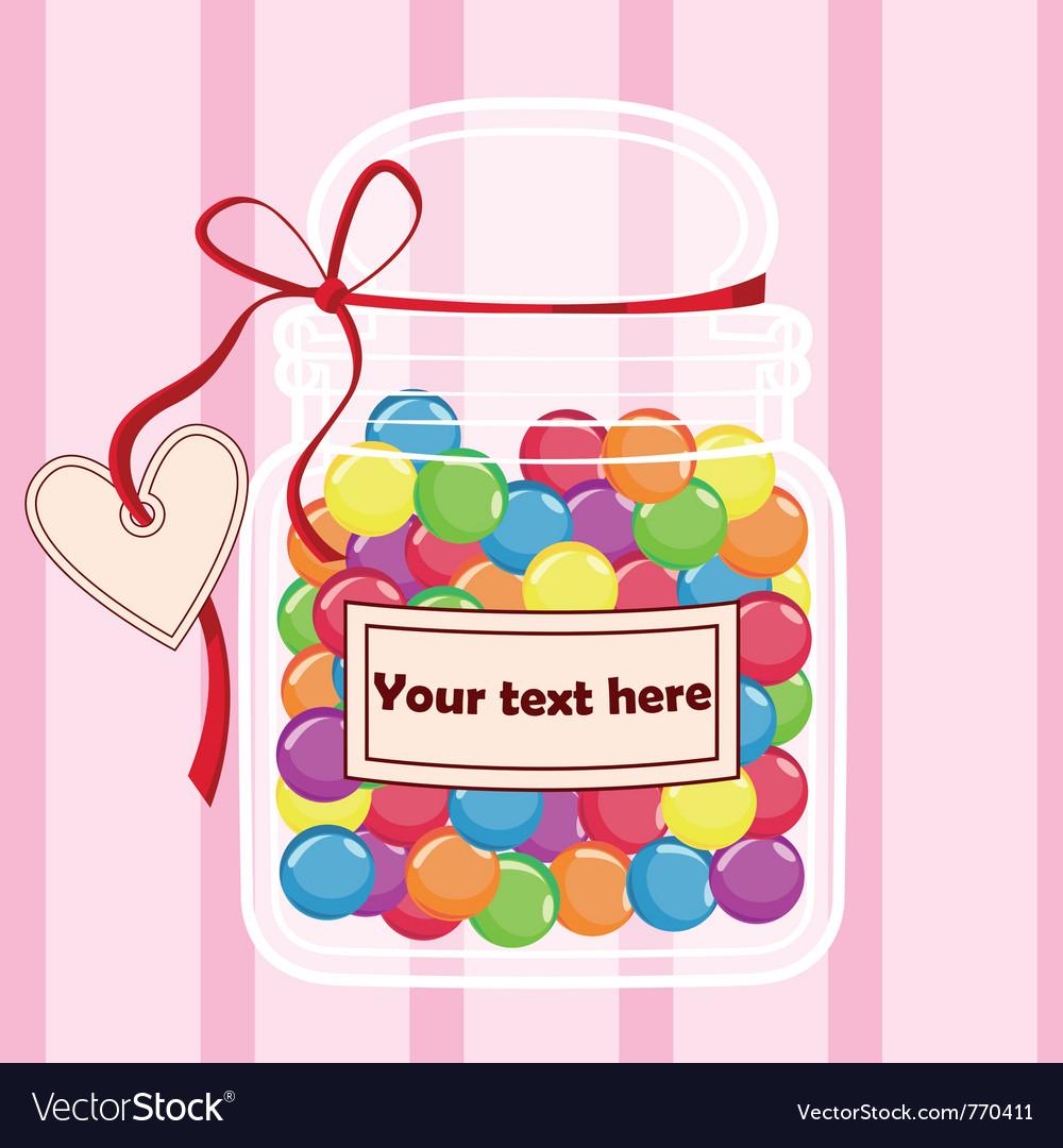 Candy jar vector | Price: 1 Credit (USD $1)