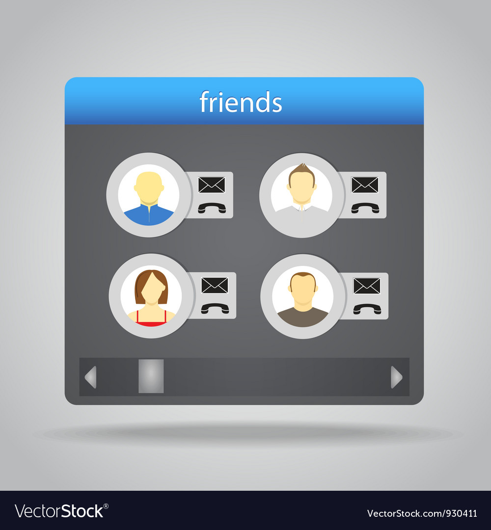 Friends set vector | Price: 1 Credit (USD $1)