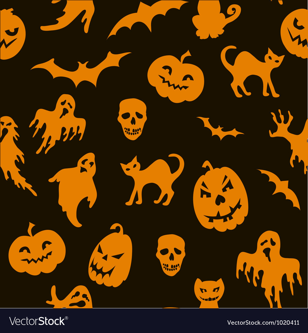Halloween seamless pattern vector | Price: 1 Credit (USD $1)