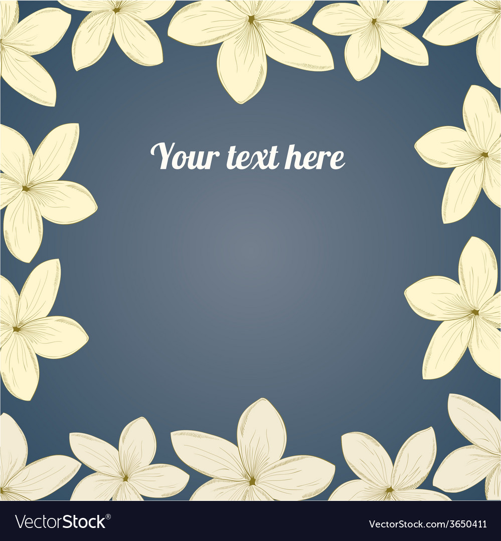 Hand-drawing flower border vector | Price: 1 Credit (USD $1)