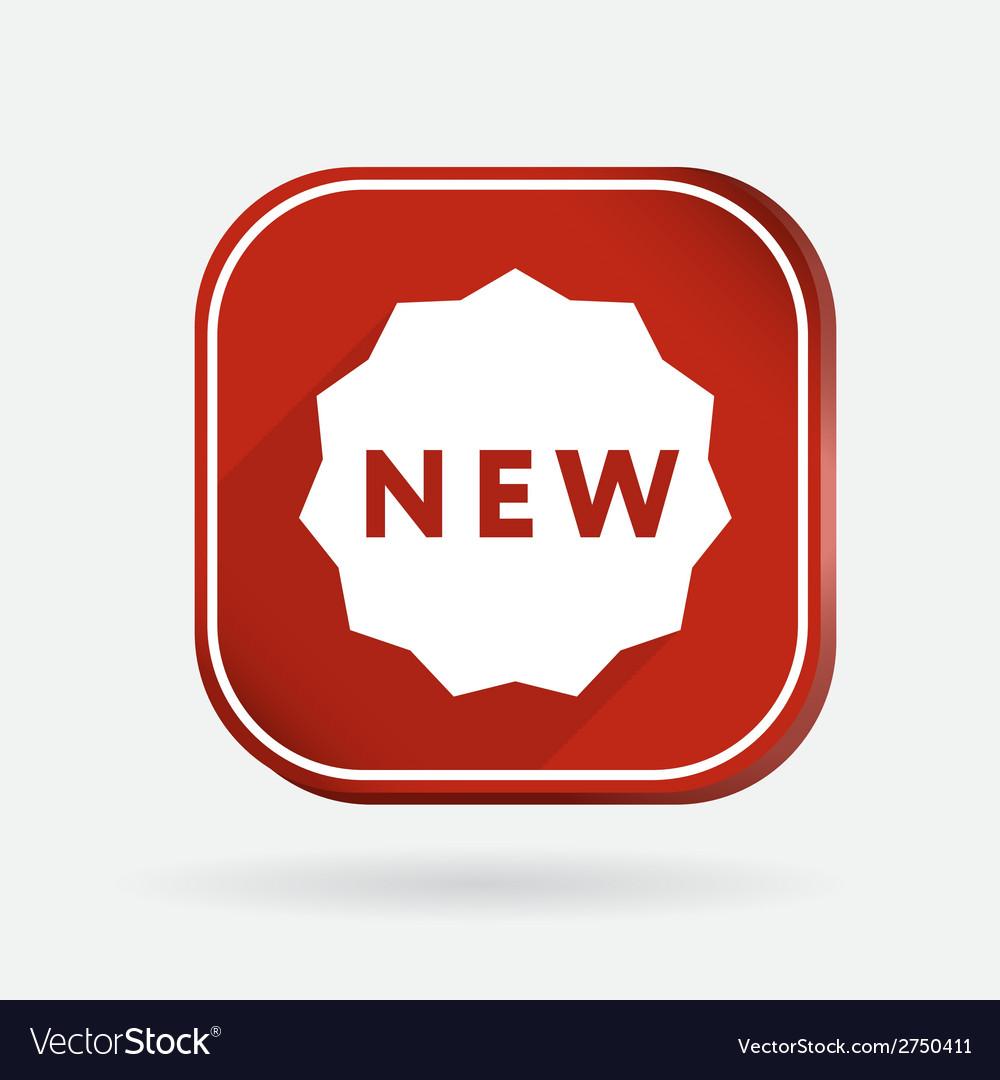 Label new color square icon vector | Price: 1 Credit (USD $1)