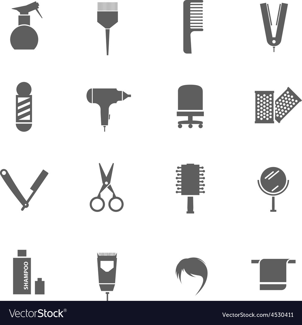 Set of hairdresser icons vector | Price: 1 Credit (USD $1)