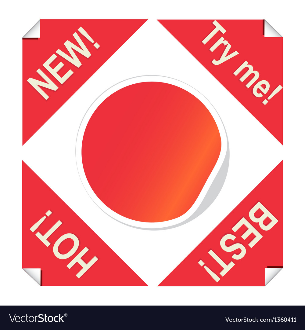 Set of red stickers for package design vector | Price: 1 Credit (USD $1)