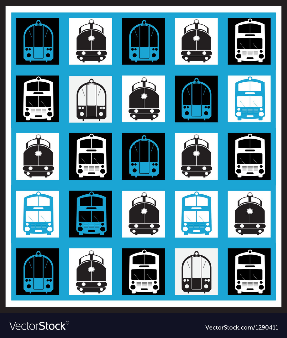Transportation mosaics vector | Price: 1 Credit (USD $1)