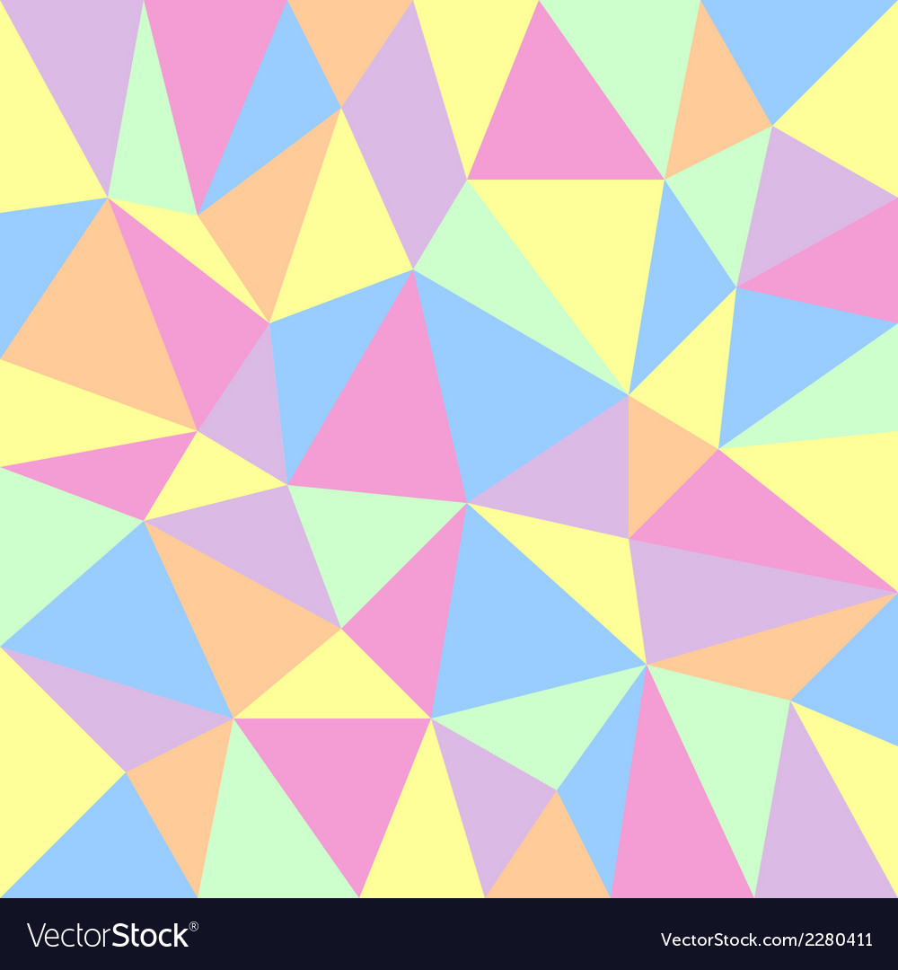 Triangular pastel background vector | Price: 1 Credit (USD $1)