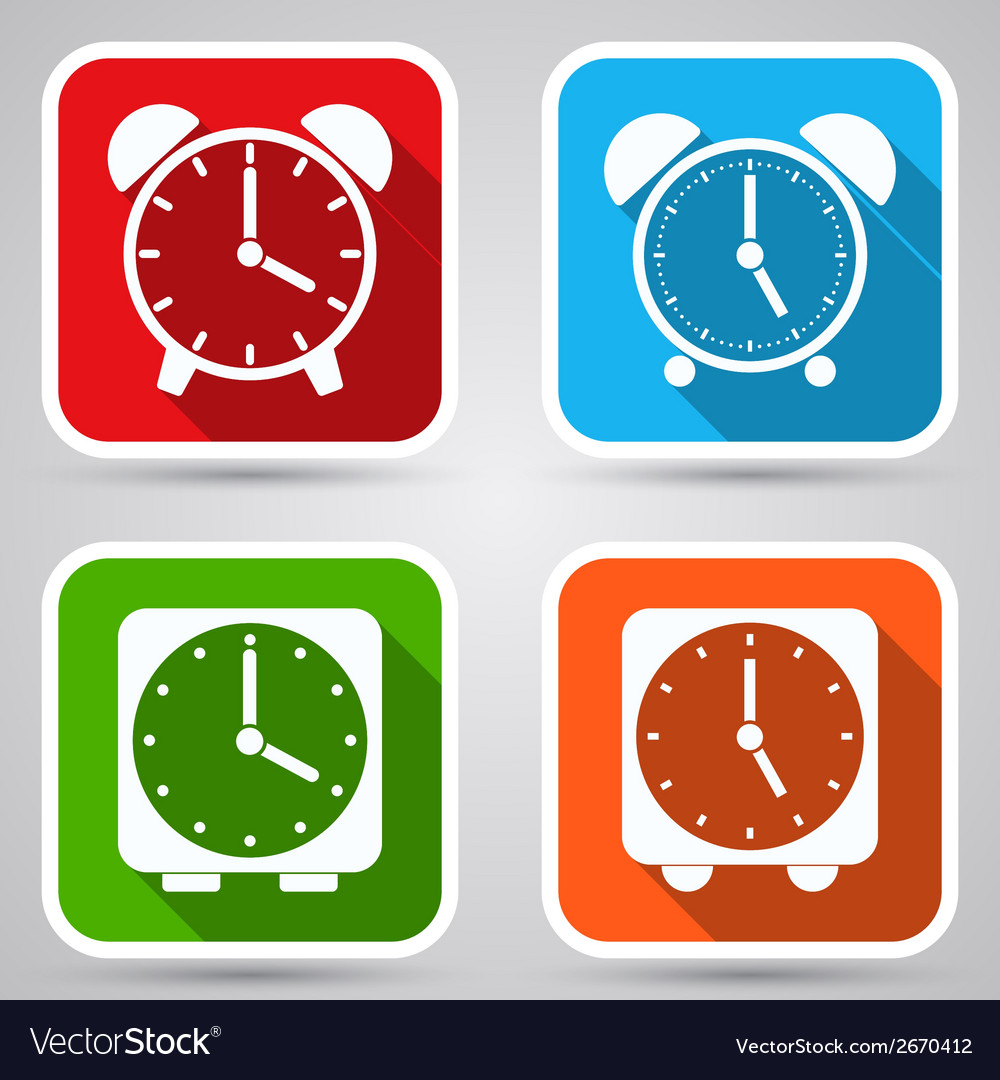 Alarm clocks collection vector | Price: 1 Credit (USD $1)