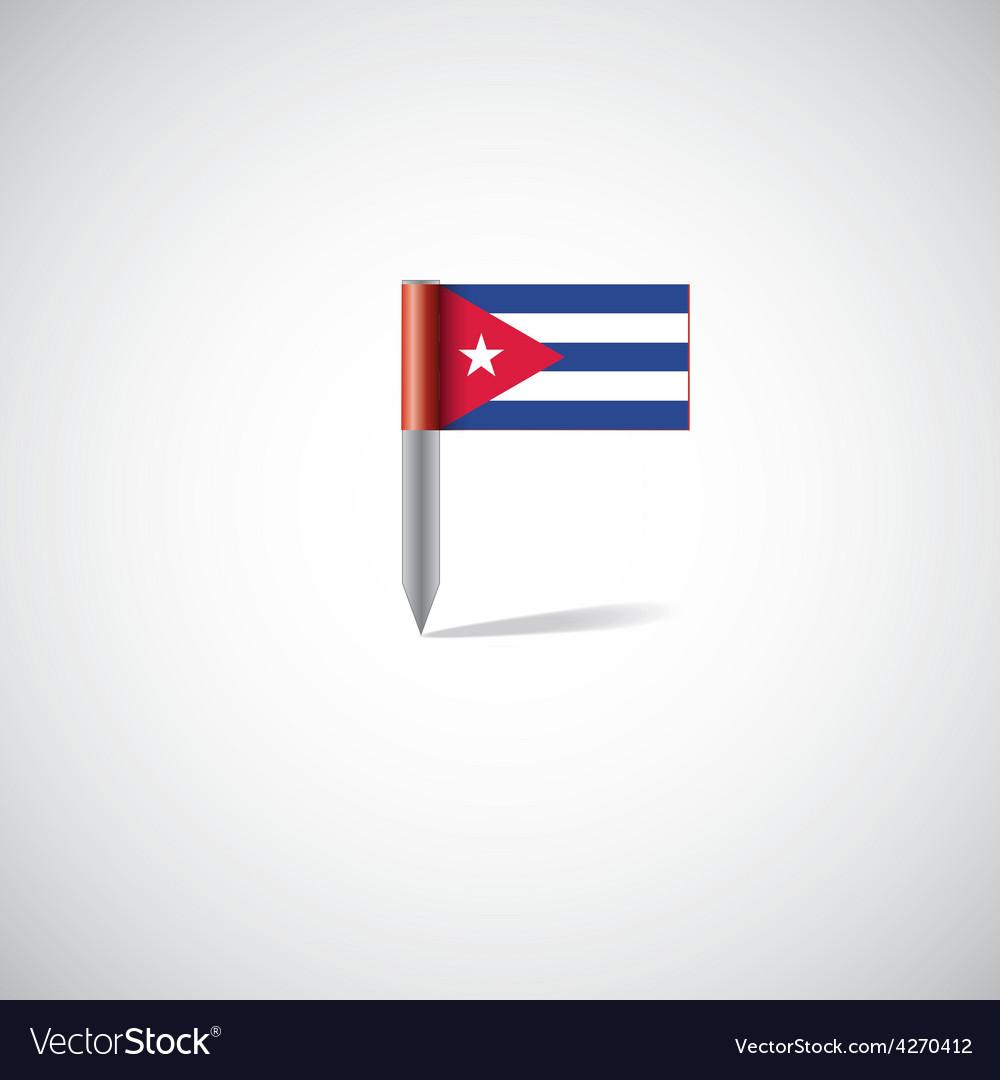 Cuba flag pin vector | Price: 1 Credit (USD $1)