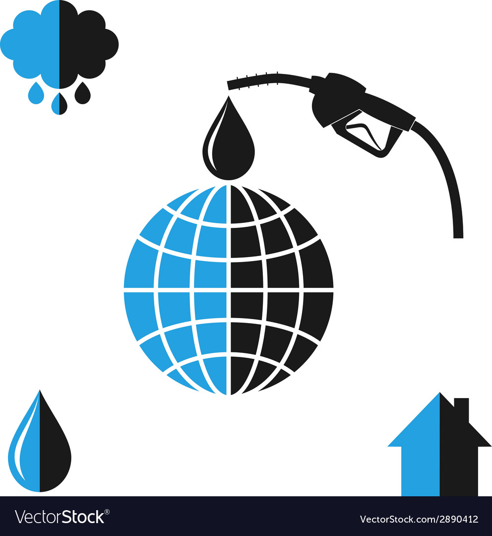Environment pollution oil industry vector | Price: 1 Credit (USD $1)