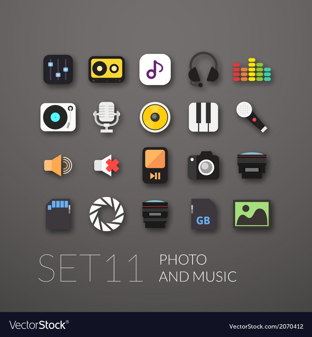 Flat icons set 11 vector   Price: 1 Credit (USD $1)