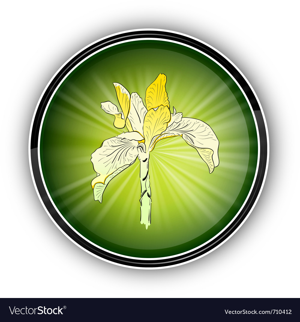 Flower on the round symbol vector | Price: 1 Credit (USD $1)