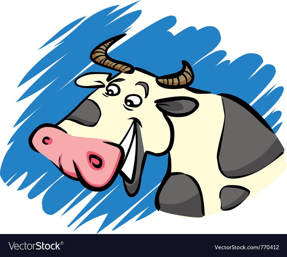 Funny farm cow vector   Price: 1 Credit (USD $1)