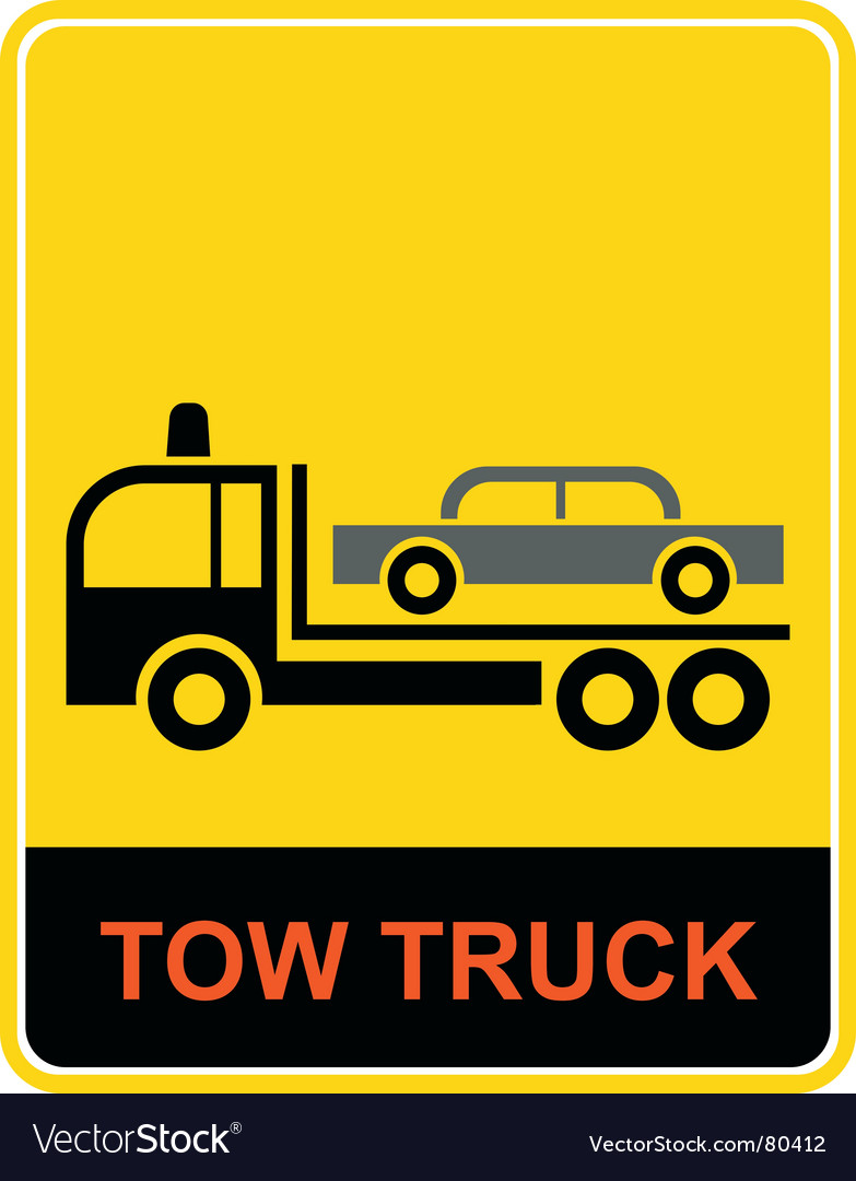 Tow truck vector | Price: 1 Credit (USD $1)