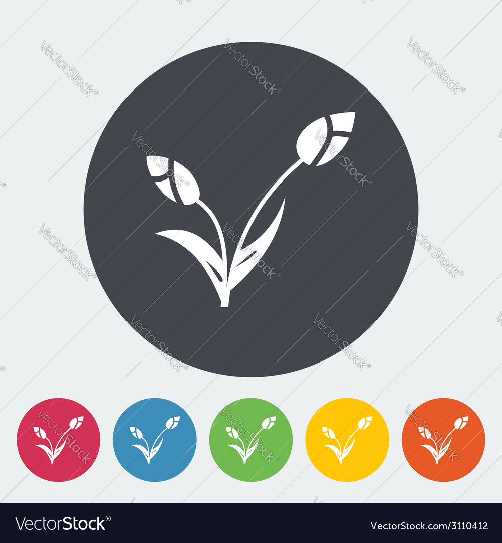 Tulip single icon vector | Price: 1 Credit (USD $1)