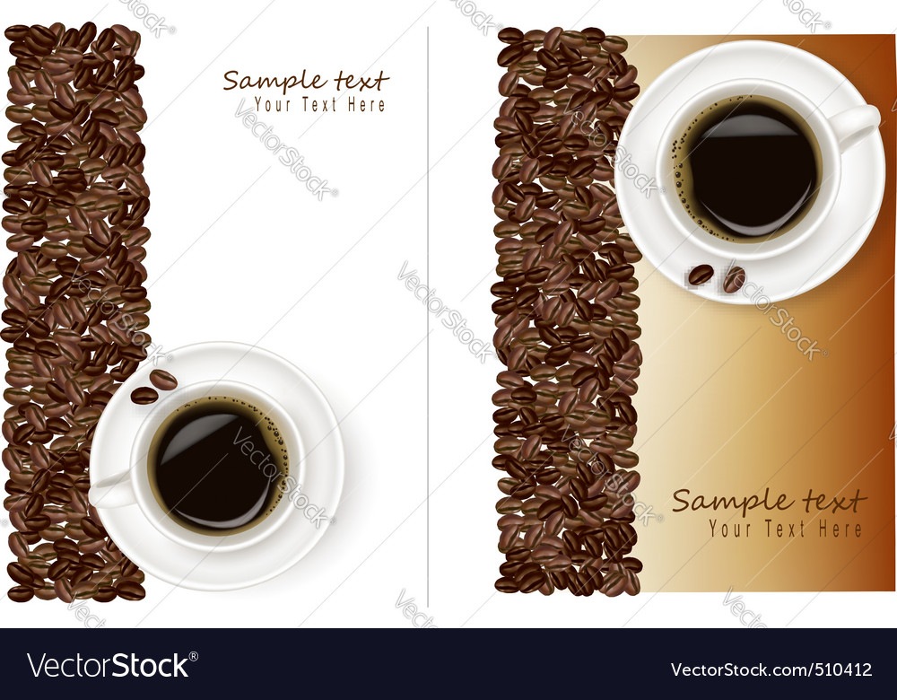 Two desings with bean and coffee vector | Price: 1 Credit (USD $1)