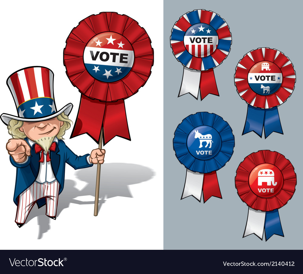 Uncle sam i want you to vote vector | Price: 3 Credit (USD $3)