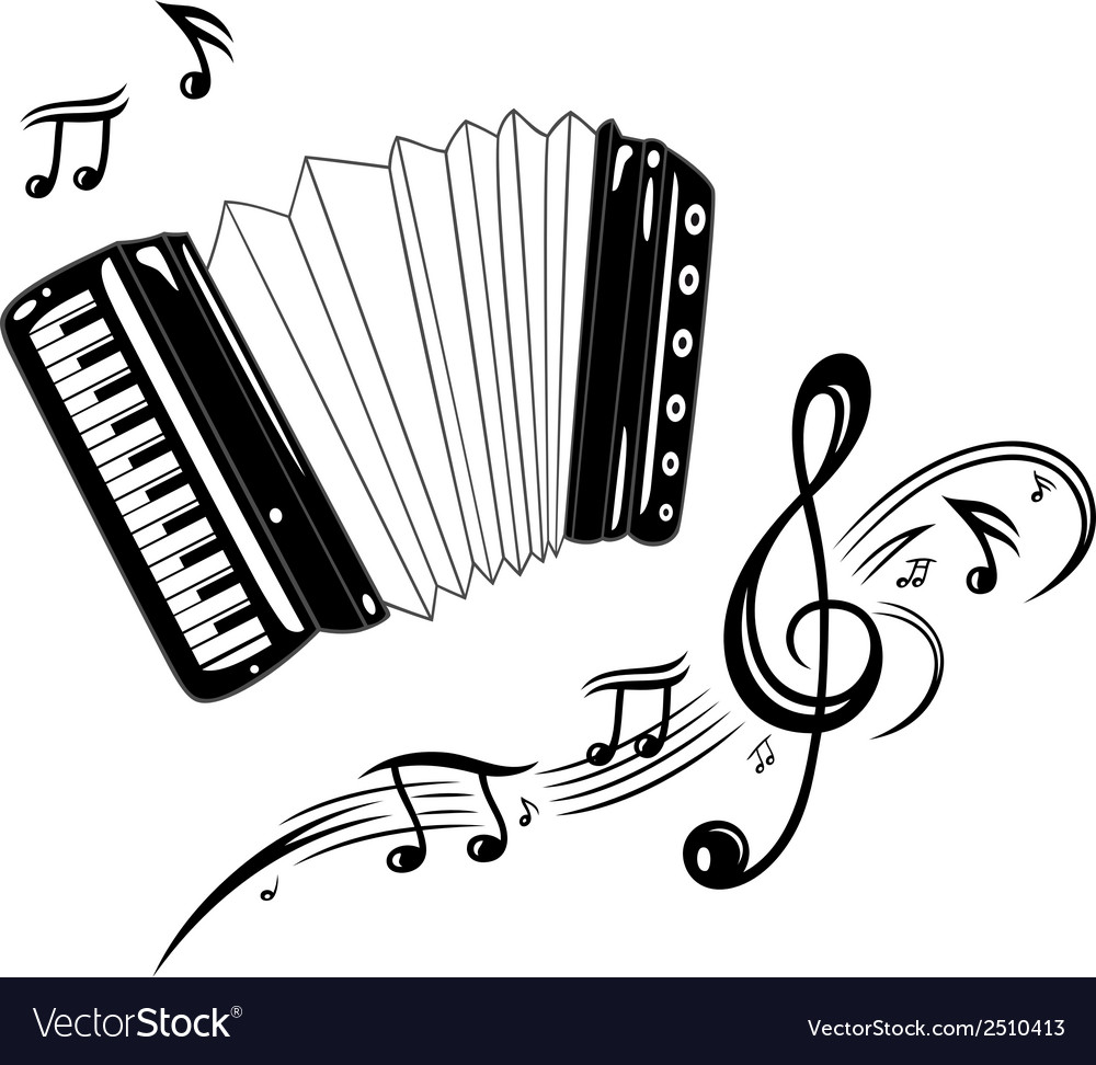 Accordion music vector | Price: 1 Credit (USD $1)