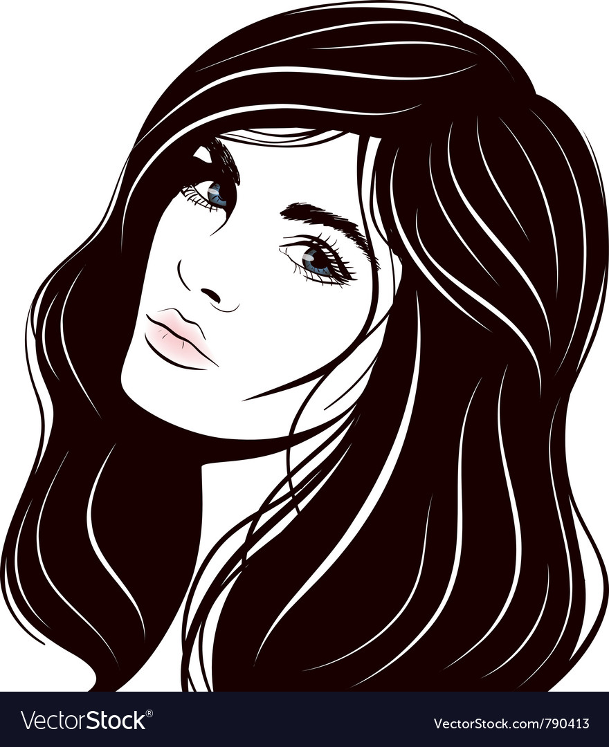 Beautiful woman face vector | Price: 3 Credit (USD $3)