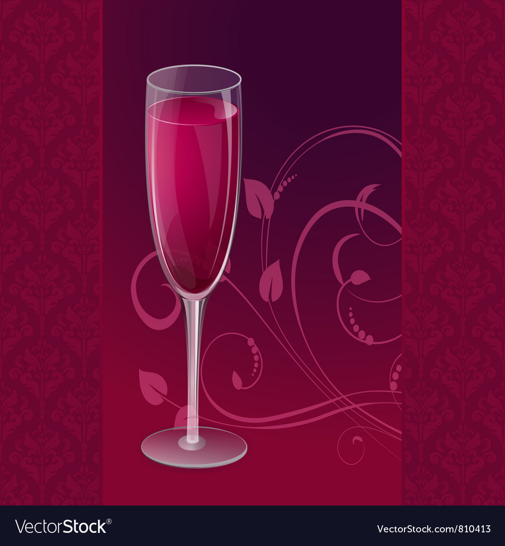 Design glass wine vector | Price: 1 Credit (USD $1)
