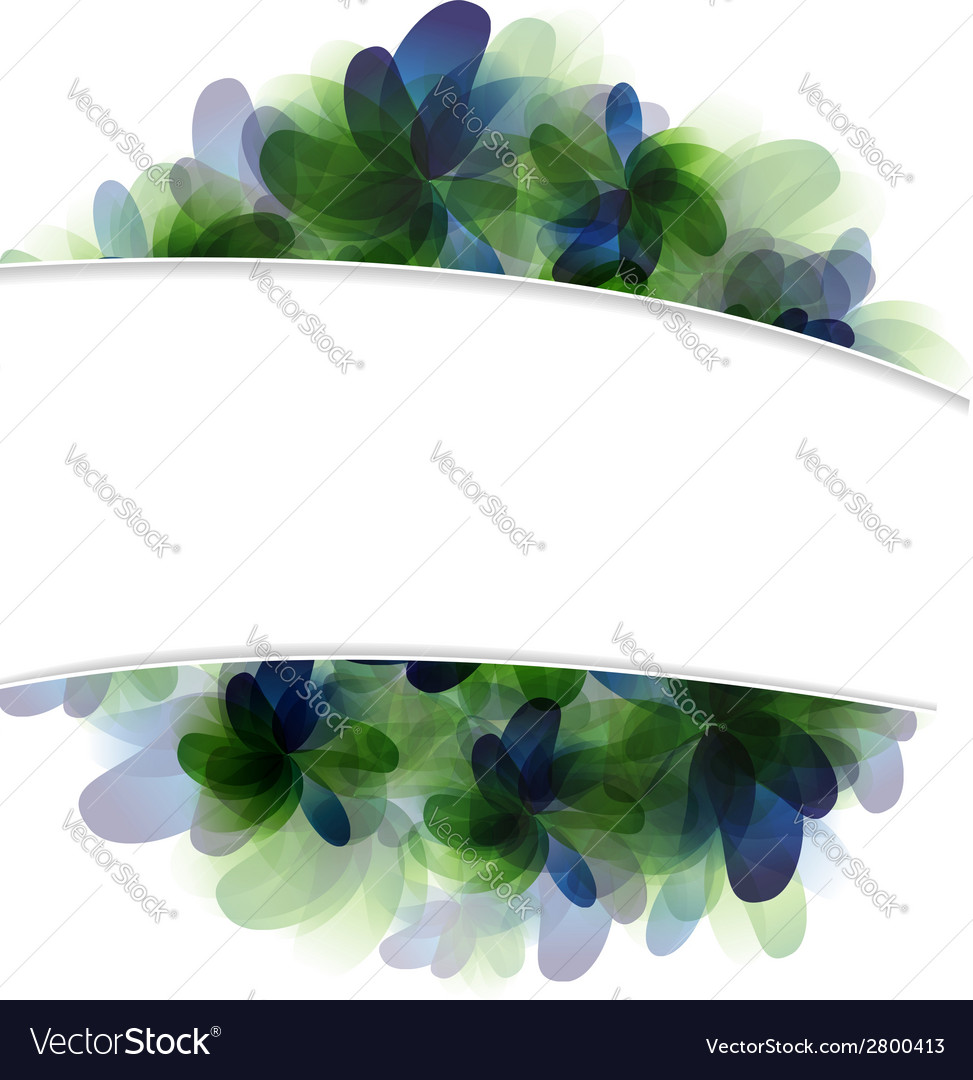Green and blue flowers vector | Price: 1 Credit (USD $1)