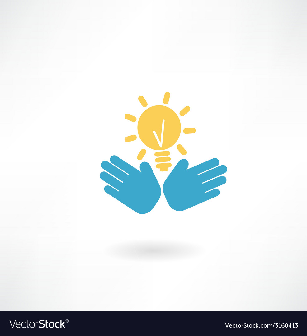 Hand with the idea of an icon vector | Price: 1 Credit (USD $1)