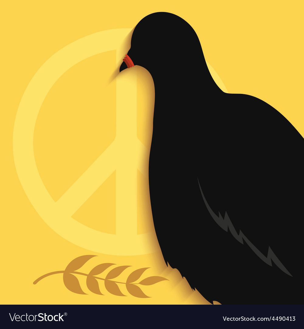 Pigeon peace sign vector | Price: 1 Credit (USD $1)