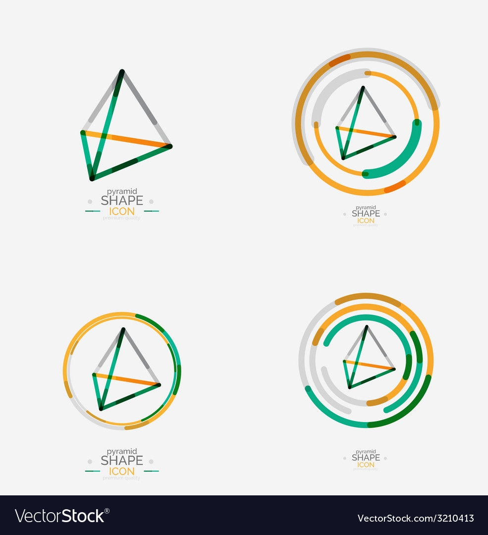 Pyramid shape line design vector | Price: 1 Credit (USD $1)