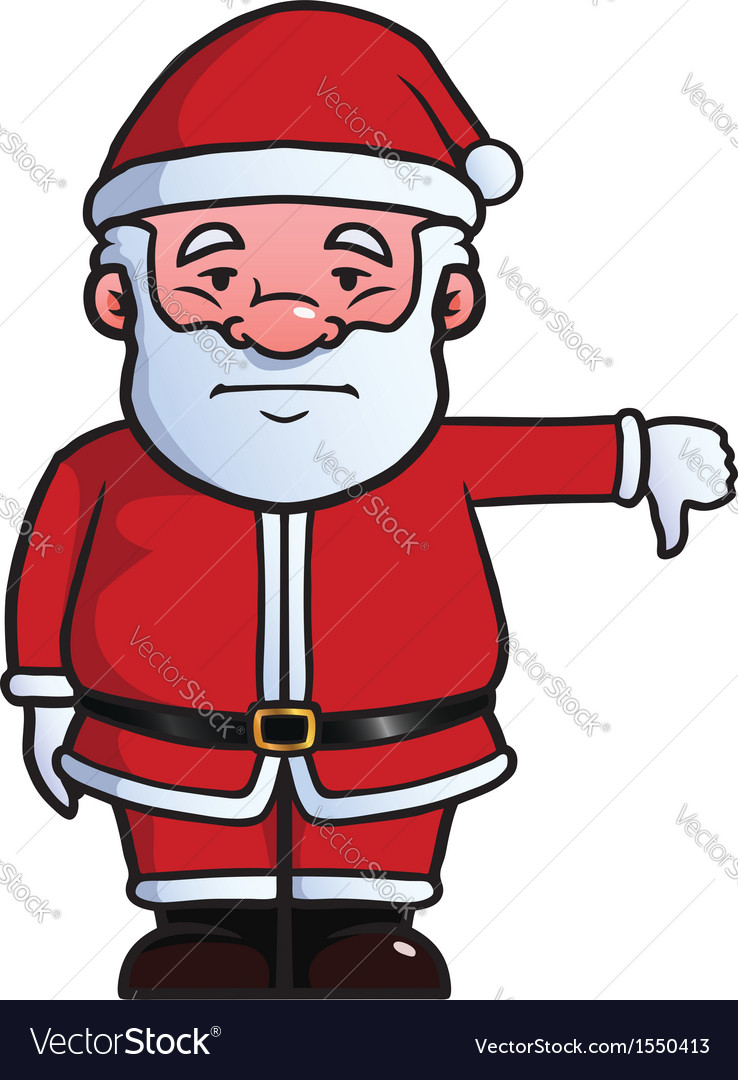 Santa claus giving thumbs down vector | Price: 1 Credit (USD $1)