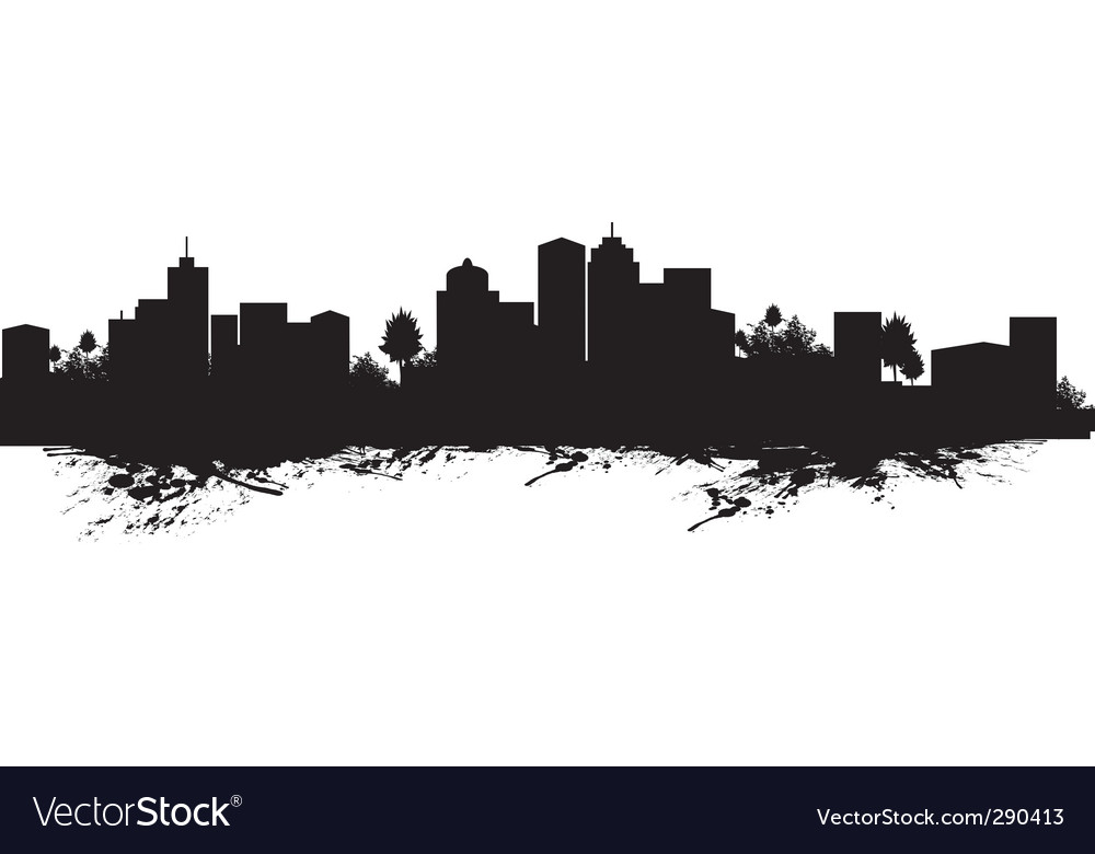 Splash cityscape vector | Price: 1 Credit (USD $1)