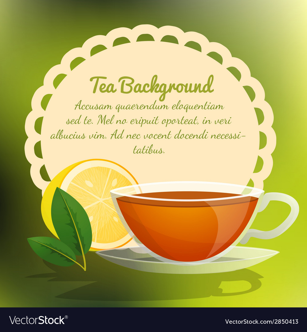 Tea cup background vector | Price: 1 Credit (USD $1)
