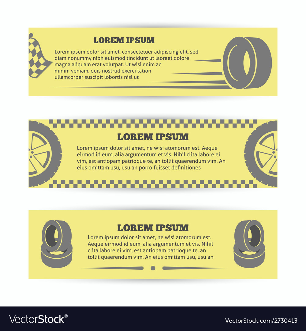 Tire banners set vector | Price: 1 Credit (USD $1)
