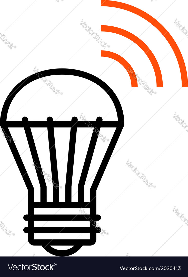 Wireless led light icon vector | Price: 1 Credit (USD $1)