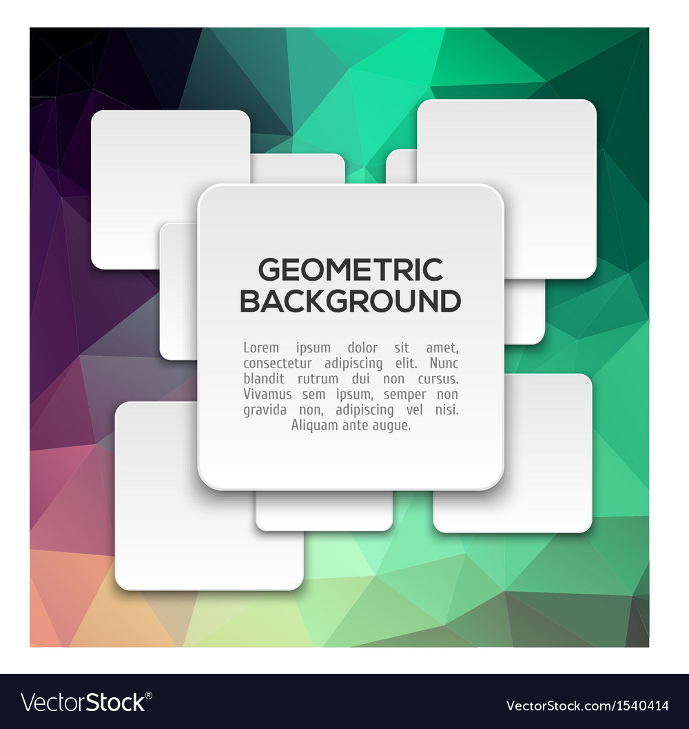 3d abstract geometric background vector | Price: 1 Credit (USD $1)