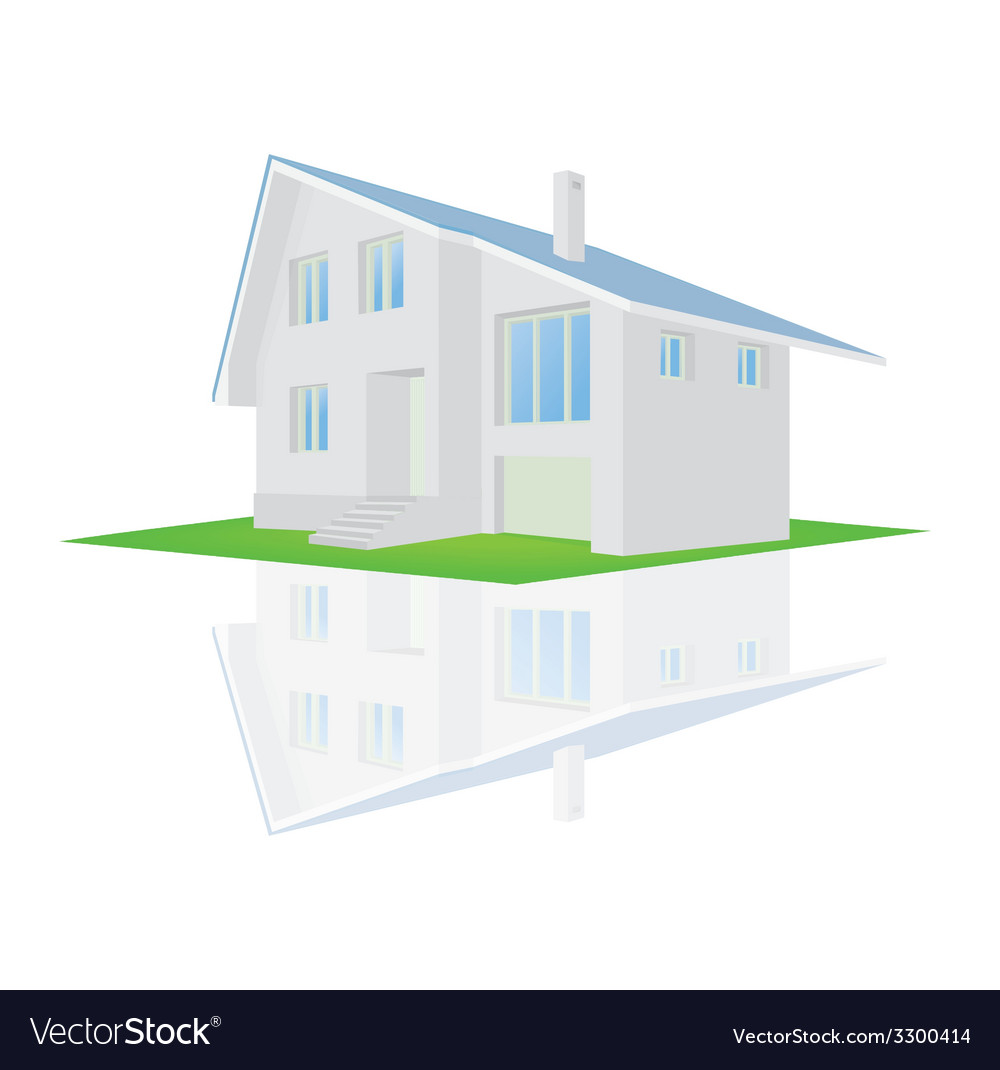 A house on a white background vector | Price: 1 Credit (USD $1)