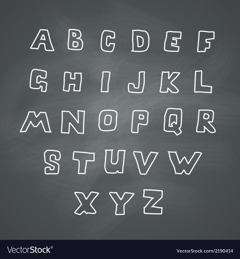 Alphabet on chalkboard vector | Price: 1 Credit (USD $1)