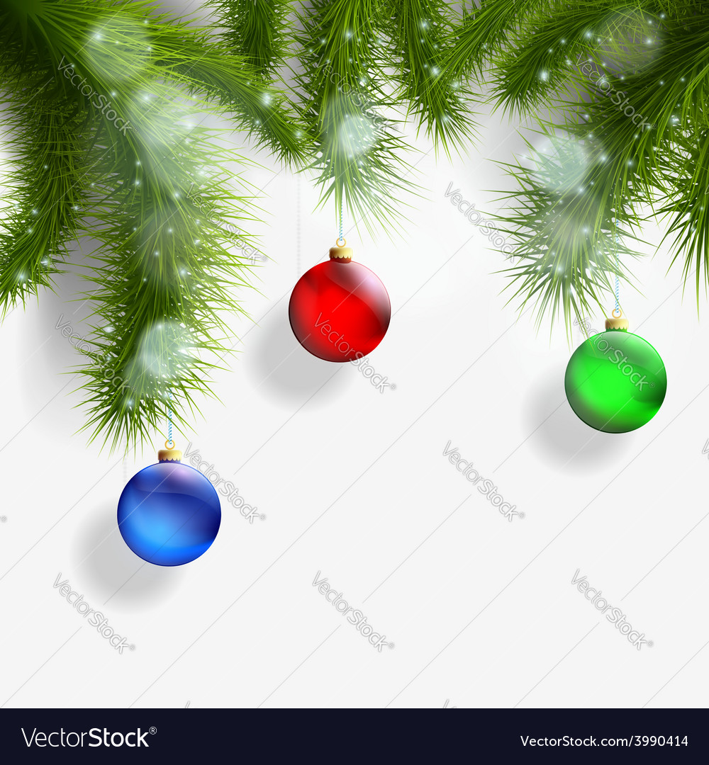 Christmas background with christmas tree and vector | Price: 1 Credit (USD $1)