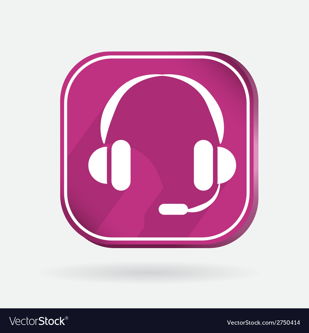Color icon with shadow customer support vector   Price: 1 Credit (USD $1)